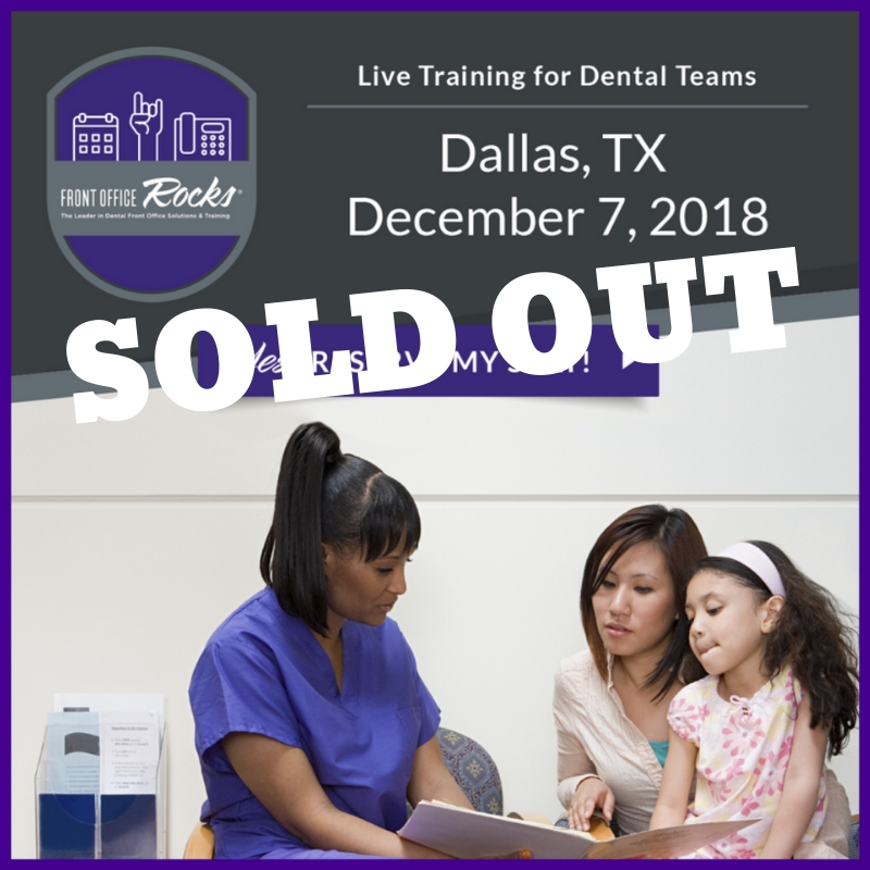 SOLD OUT Live Training for Dental Teams in Dallas Texas Image