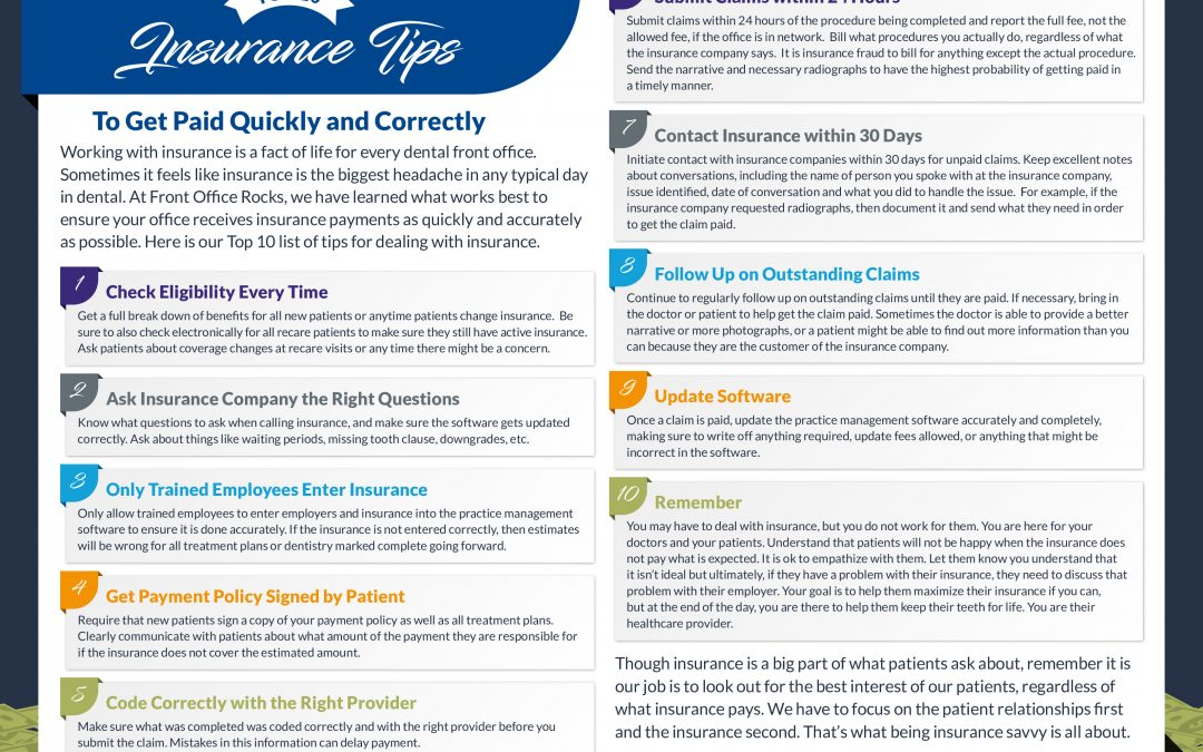 [Infographic] Top 10 Insurance Tips For Getting Paid Quickly and Correctly